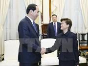 Presidente vietnamita llama inversiones singapurenses en parques industriales