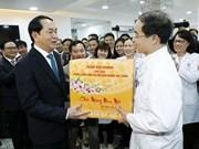Presidente realiza visitas en momentos de transición a Nuevo Año Lunar
