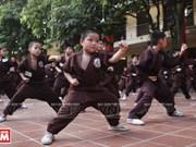 Clase de artes marciales en la pagoda Bang A