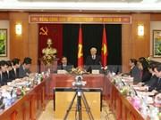 Líder partidista pondera logros del Departamento Económico del PCV