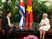Vicepresidenta cubana confía en desarrollo de lazos tradicionales con Vietnam