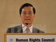 Vietnam decidido a continuar contribuciones a garantía de derechos humanos