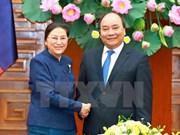 Premier vietnamita recibe a la presidenta de la Asamblea Nacional de Laos