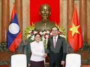Presidenta parlamentaria de Laos se compromete a impulsar acuerdos con Vietnam