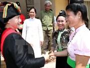 Presidenta del Legislativo continúa programa de trabajo en Dien Bien