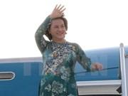 Presidenta del Parlamento vietnamita inicia visita a República Checa