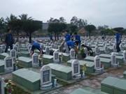 Entierran restos de mártires vietnamitas caídos en guerra pasada