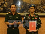 Oficial vietnamita se une a misión de paz de ONU en República Centroafricana