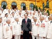 Presidente vietnamita elogia contribuciones de expolicías logísticos de la guerra