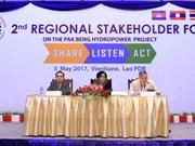 Inician foro consultivo regional sobre proyecto de hidroeléctrica en río Mekong