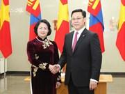 Vicepresidenta vietnamita dialoga con líderes de Mongolia