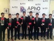 Vietnam gana medalla de oro en Olimpiada de Física de Asia