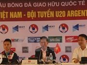 Equipo sub-20 de Vietnam listo para partido amistoso de fútbol con Argentina