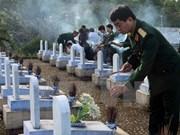 Inhuman restos de combatientes vietnamitas caídos en Camboya