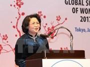 Vicepresidenta vietnamita interviene en clausura de Cumbre Mundial de Mujeres en Japón