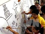 Inaugurarán avenida de pinturas murales más larga de Vietnam