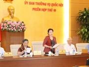 Clausuran décima sesión del Comité Permanente del Parlamento vietnamita