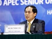 Clausuran en Hanoi segunda reunión de altos funcionarios de APEC