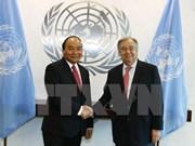 Premier de Vietnam se reúne con secretario general de la ONU