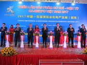Inauguran exposición de productos mecánicos y electrónicos CA-MEXPO Vietnam 2017