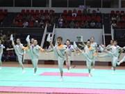 Entrenadores extranjeros de aeróbic asisten a curso de preparación en Hanoi
