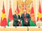 Presidente de Vietnam concluye visita oficial a Belarús