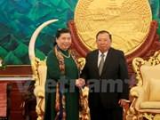 Dirigentes de Laos y Vietnam manifiestan satisfacción por avance de nexos bilaterales