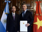 Embajador vietnamita en Argentina entrega cartas credenciales