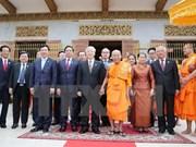 Secretario general del PCV dialoga con patriarcas budistas de Camboya