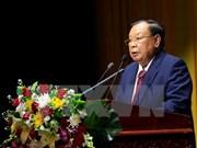 Dirigentes vietnamitas felicitan a secretario general de PPRL y presidente de Laos por su 80 cumpleaños