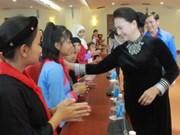 Presidenta del Parlamento vietnamita ratifica el interés del Estado en la atención a los niños