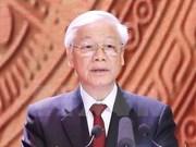 Recibe presidente myanmeno al máximo dirigente partidista de Vietnam