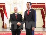 Máximo dirigente partidista de Vietnam envía mensaje de agradecimiento al presidente de Indonesia