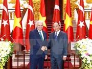 Premier turco: Es factible meta comercial de cuatro mil millones de dólares con Vietnam