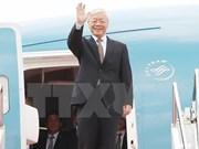 Secretario general del Partido Comunista de Vietnam concluye gira por Indonesia y Myanmar
