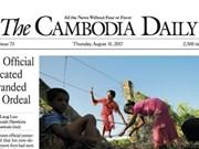"""""""The Cambodia Daily"""" suspende su actividad por deuda  arancelaria"""