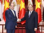 Premier de Vietnam apoya elevar intercambio comercial con Egipto