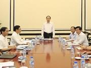 Presidente de Vietnam examina preparativos para Semana de alto nivel del APEC