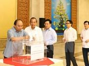 Continúan en Vietnam actividades de recaudación a favor de pobladores afectados por tifón Doksuri