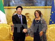 Parlamentos de Vietnam e Italia estrechan lazos