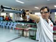 Tirador vietnamita mantiene en primer lugar en ranking mundial de pistola de 10 metros