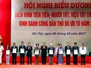Honran a ciudadanos destacados de Hanoi en 2017