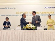 Vietnam Airlines y Air France firman acuerdo de cooperación integral