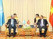 Primer ministro de Vietnam recibe a jefes de instituciones de ONU