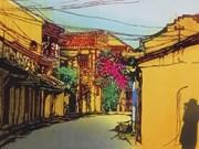 Pinturas de artista japonesa presentan un Vietnam en miniatura