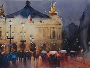 Inauguran en Vietnam exposición internacional de acuarelas