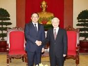 Máximo dirigente partidista de Vietnam reitera nexos con Laos