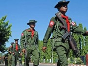 Miles de personas marchan en Myanmar para expresar apoyo al ejército