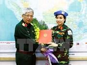 Vietnam envía primera oficial femenina a misiones de paz de ONU