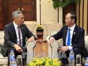 Presidente de Vietnam recibe a Lee Hsien Loong